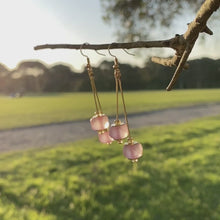 Load and play video in Gallery viewer, Double drop earring - Pink