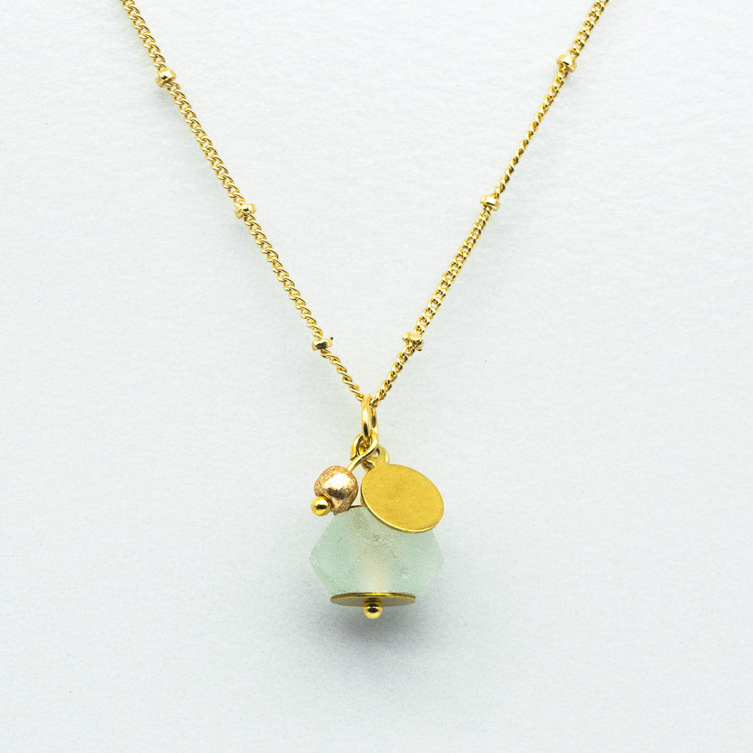 Diamond Zodiac Birthstone Necklace (April)