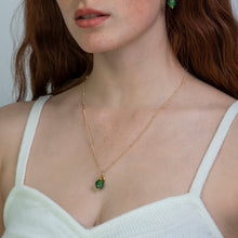 Load image into Gallery viewer, Peridot Zodiac Birthstone Necklace (August)