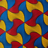 Pocket Square - Red Yellow Blue Swirl