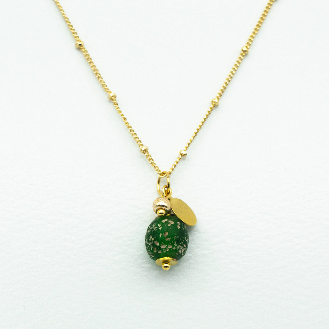 Peridot Zodiac Birthstone Necklace (August)