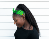 Wired headband - Green Yellow Garden