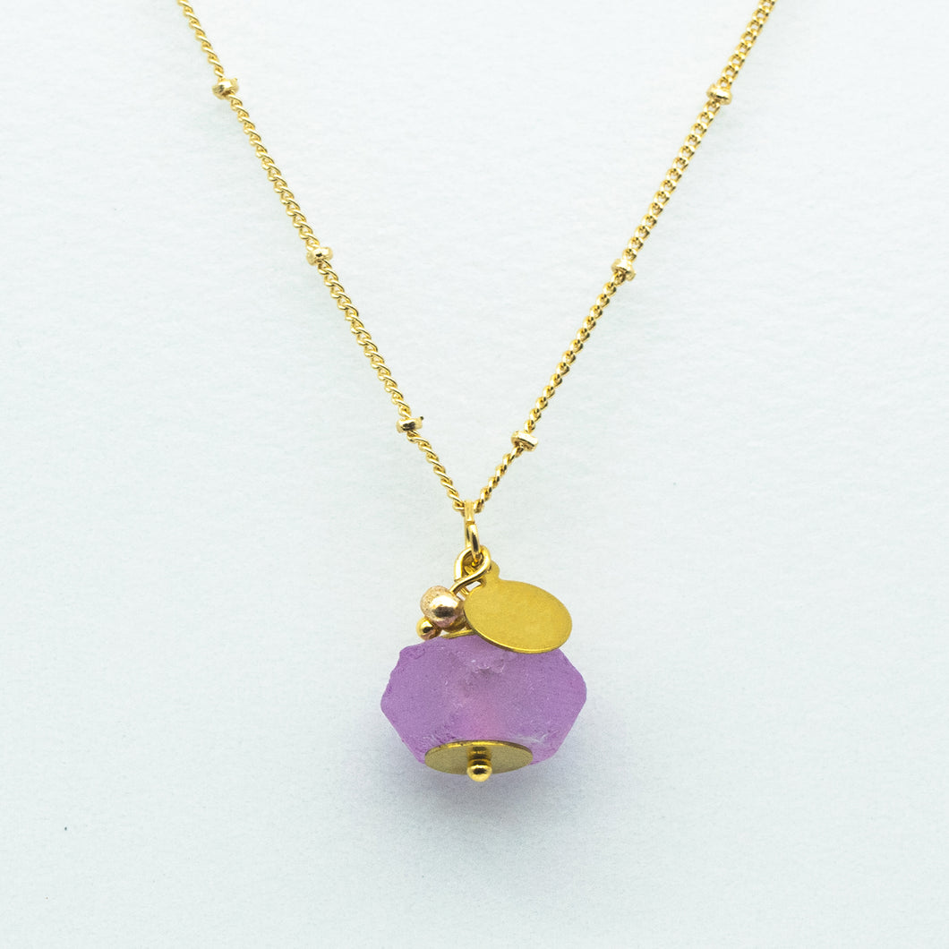 Amethyst Zodiac Birthstone Necklace (February)