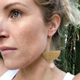 New Moon earring - Blush Pink
