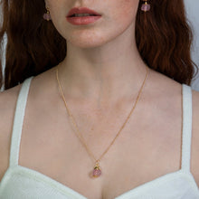 Load image into Gallery viewer, Soft Ruby Zodiac Birthstone Necklace (July)