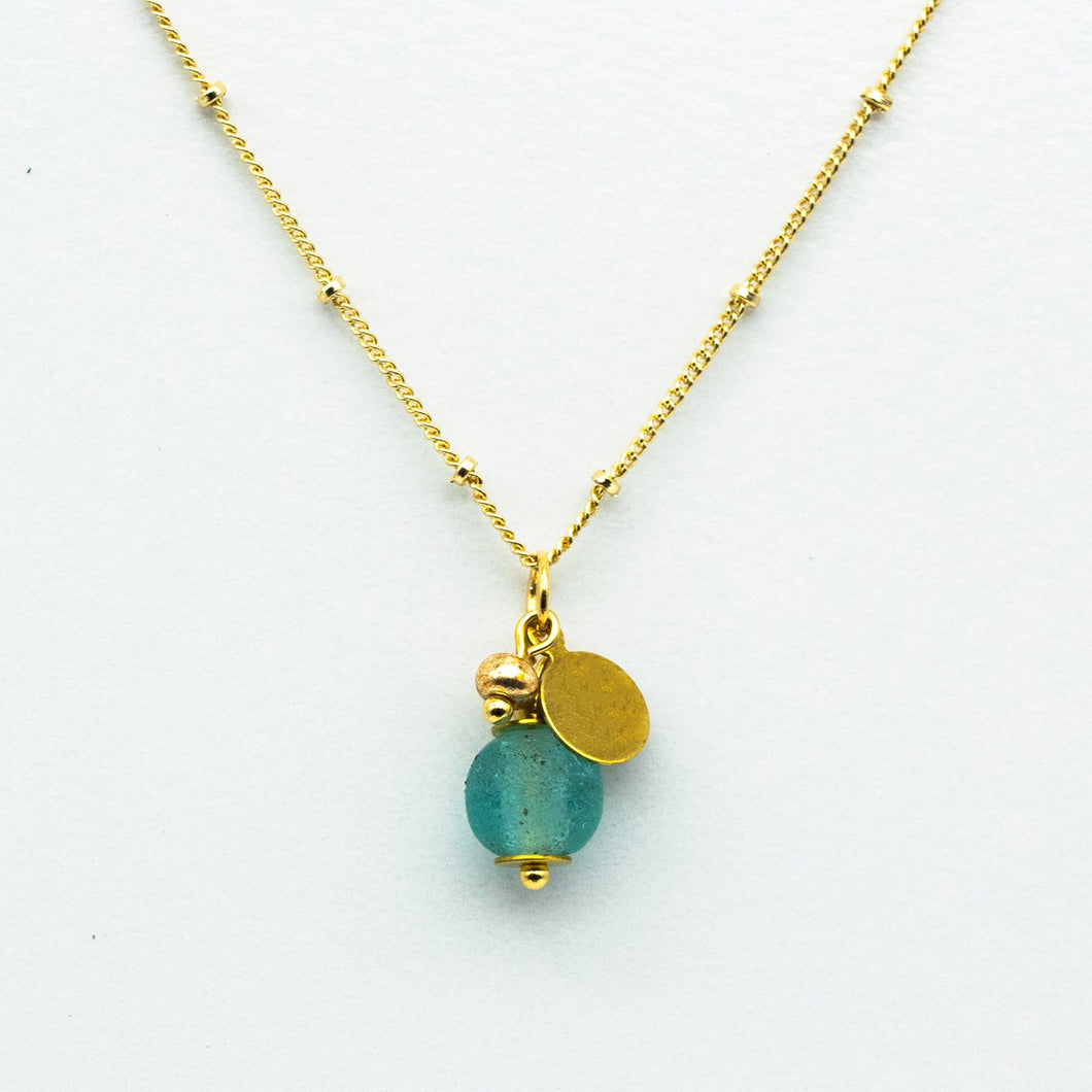 (Wholesale) Aquamarine Zodiac Birthstone Necklace (March)