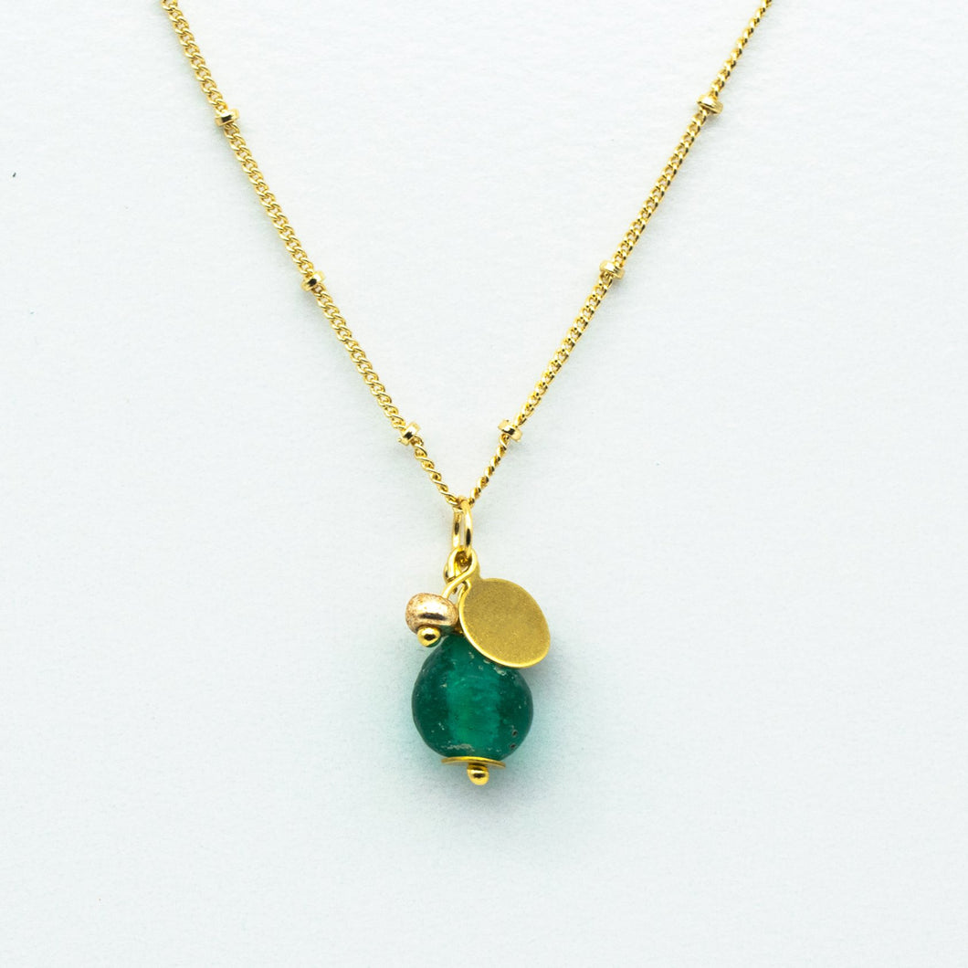 (Wholesale) Emerald Zodiac Birthstone Necklace (May)