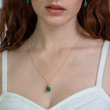 Load image into Gallery viewer, (Wholesale) Emerald Zodiac Birthstone Necklace (May)