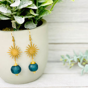 Radiant earring - Teal