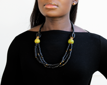 Load image into Gallery viewer, 'Knot Your Average' necklace - Black