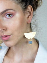 Load image into Gallery viewer, (Wholesale) New Moon earring - Blue Swirl