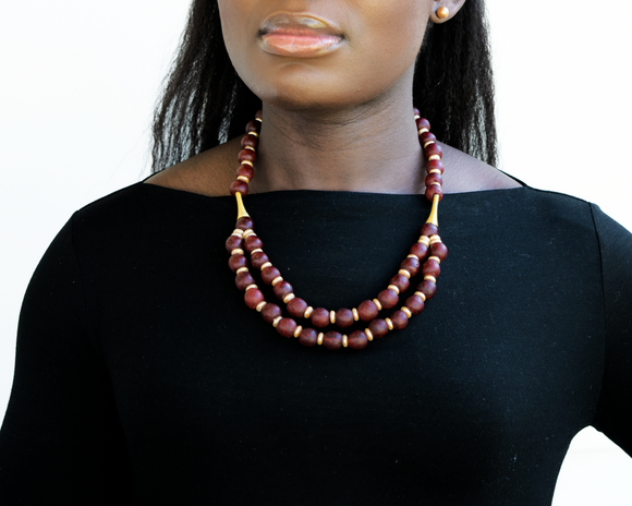 'Rise and Shine' necklace - Brick Red