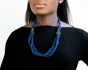 'Knot Your Average' necklace - Cobalt