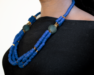 (Wholesale) 'Knot Your Average' necklace - Cobalt