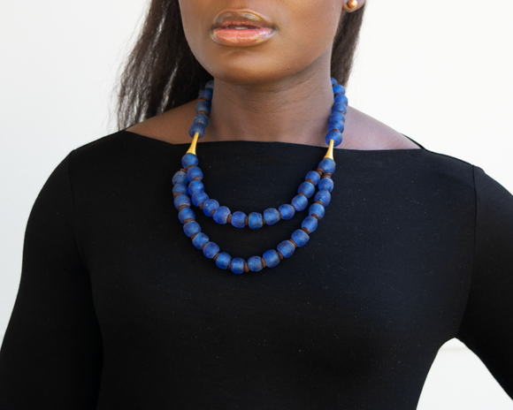 'Rise and Shine' necklace - Cobalt