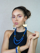 Load image into Gallery viewer, Medium 'Rise and Shine' necklace - Cobalt