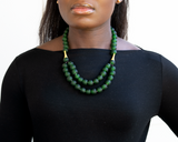 'Rise and Shine' necklace - Forest Green