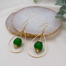 Load image into Gallery viewer, (Wholesale) Teardrop earring - Fern Green