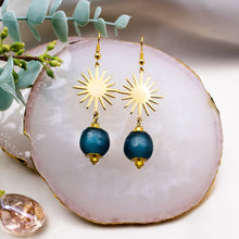 Load image into Gallery viewer, Radiant earring - Teal