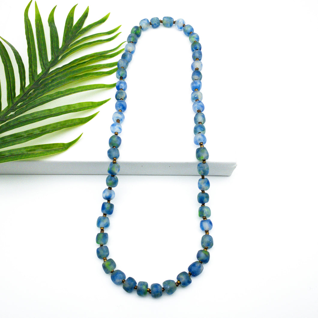 Long single strand necklace - Ocean