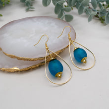 Load image into Gallery viewer, Teardrop earring - Azure Blue