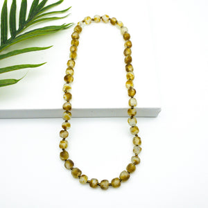 (Wholesale) Long single strand necklace - Amber