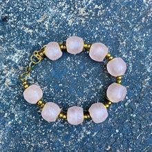 Load image into Gallery viewer, Blush Pink Recycled Glass Bracelet