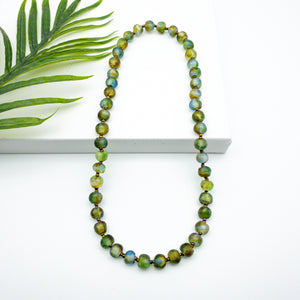 Long single strand necklace - Earth