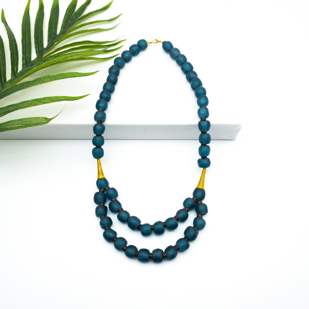 (Wholesale) Medium 'Rise and Shine' necklace - Teal