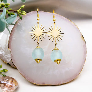Radiant earring - Ice Blue
