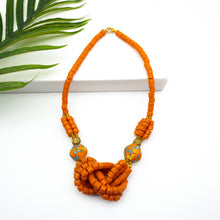Load image into Gallery viewer, 'Knot Your Average' necklace - Orange