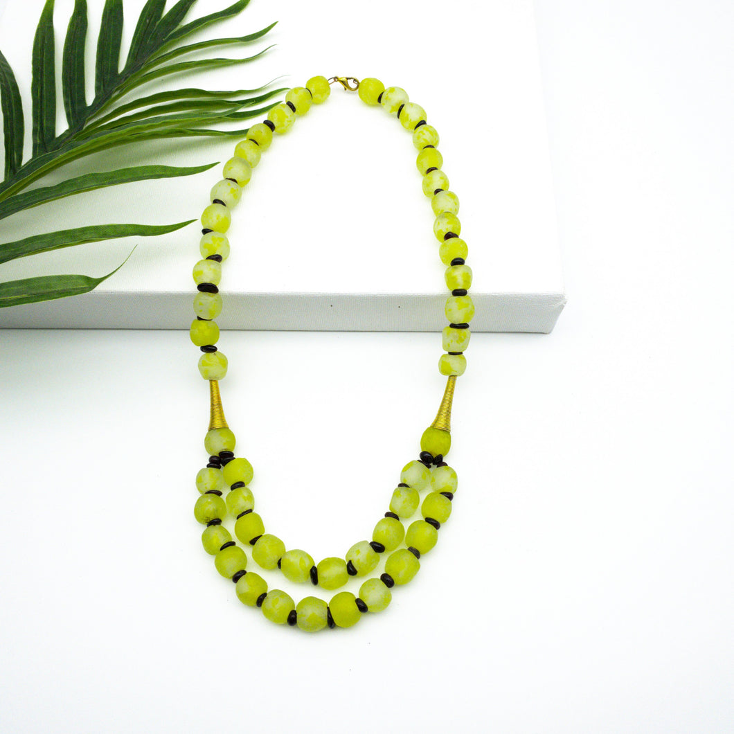 (Wholesale) Medium 'Rise and Shine' necklace - Lime Green
