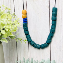 Load image into Gallery viewer, (Wholesale) Colour pop adjustable necklace - Green & Blue