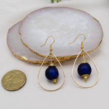 Load image into Gallery viewer, (Wholesale) Teardrop earring - Navy