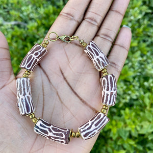 (Wholesale) Pink & Mauve Hand Painted Bracelet