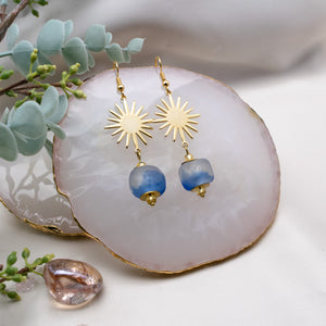 Radiant earring - Sky Blue