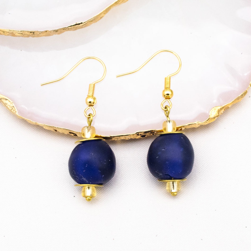 (Wholesale) Swing earring - Navy