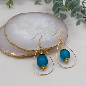 Teardrop earring - Azure Blue