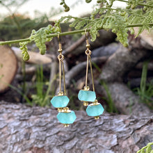 Load image into Gallery viewer, (Wholesale) Double drop earring - Turquoise