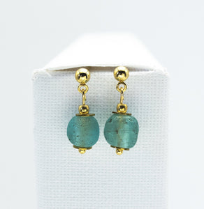 (Wholesale) Aquamarine Zodiac Birthstone Earrings (March)