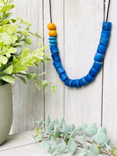 Load image into Gallery viewer, Colour pop adjustable necklace - Blue
