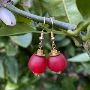 Swing earring - Fire Red