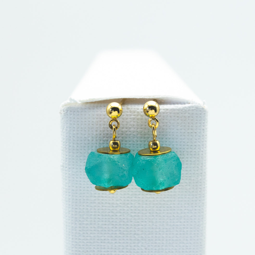 Turquoise  Zodiac Birthstone Earrings (December)