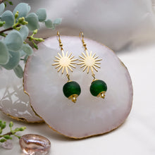 Load image into Gallery viewer, Radiant earring - Forest Green