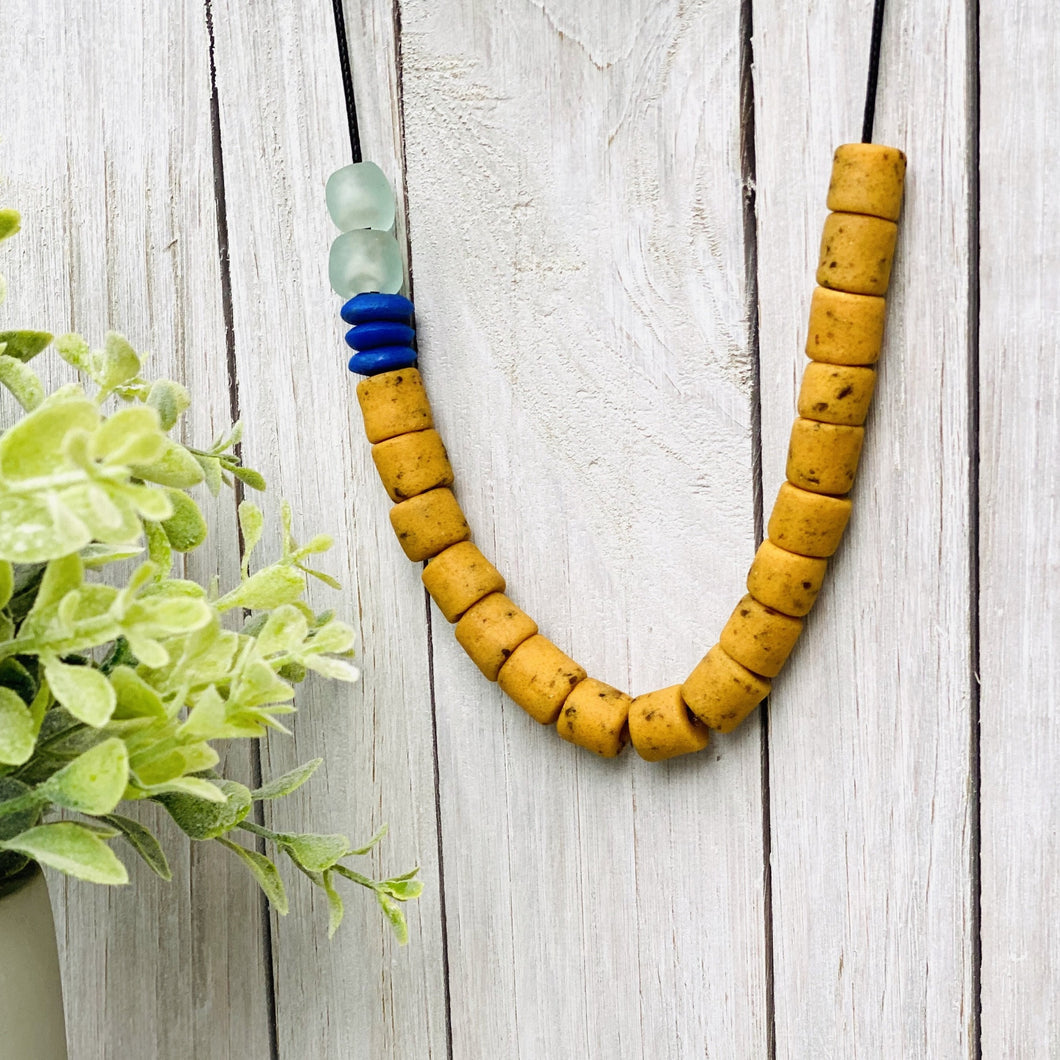 Colour pop adjustable necklace - Yellow