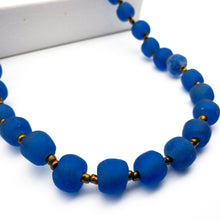 Load image into Gallery viewer, Long single strand necklace - Cobalt