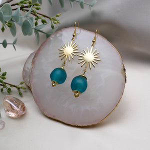Radiant earring - Azure Blue