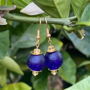 Swing earring - Navy