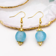 Load image into Gallery viewer, (Wholesale) Swing earring - Cyan Blue