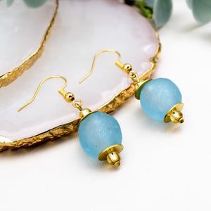 (Wholesale) Swing earring - Cyan Blue